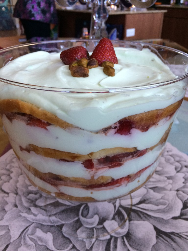 Strawberry Pistachio Trifle